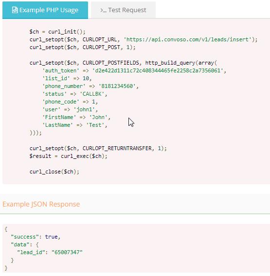 How to Insert Leads via API – Convoso Self-Help Center