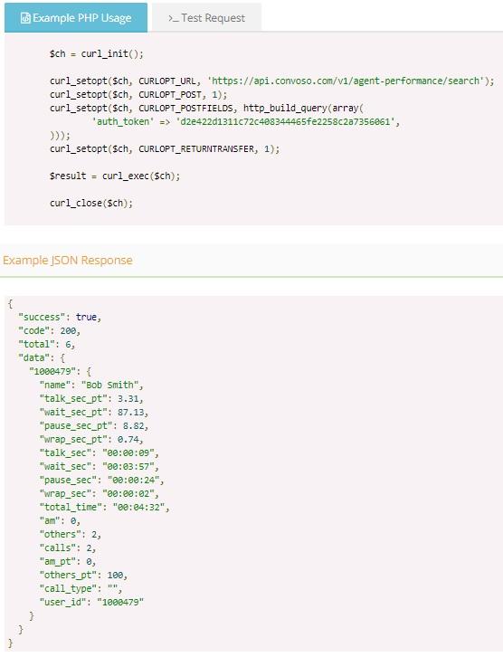 Sending Agent Performance via API  – Convoso Self-Help Center